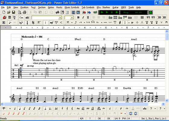 List of Best Guitar Tablature and Music Notation Software | Masters