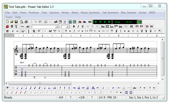 Power Tab Editor Guitar Tablature Tutorial (Videos) : Masters of Music