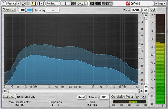 Voxengo SPAN Audio Spectrum Analyzer