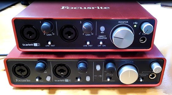 focusrite scarlett 2nd gen 2i2 vs 1st gen 2i4 comparison