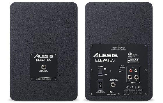 Alesis Elevate 5 Studio Monitor Speakers Back