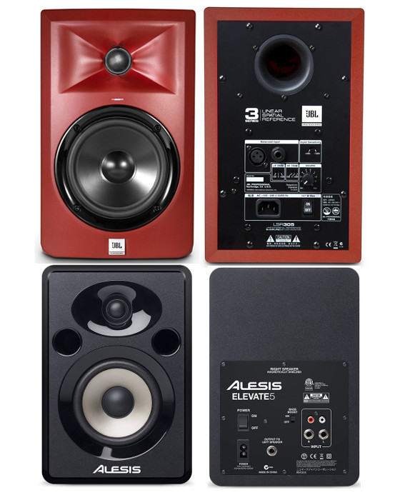 jbl lsr305 studio monitors vs alesis elevate 5 comparison review masters of music. Black Bedroom Furniture Sets. Home Design Ideas